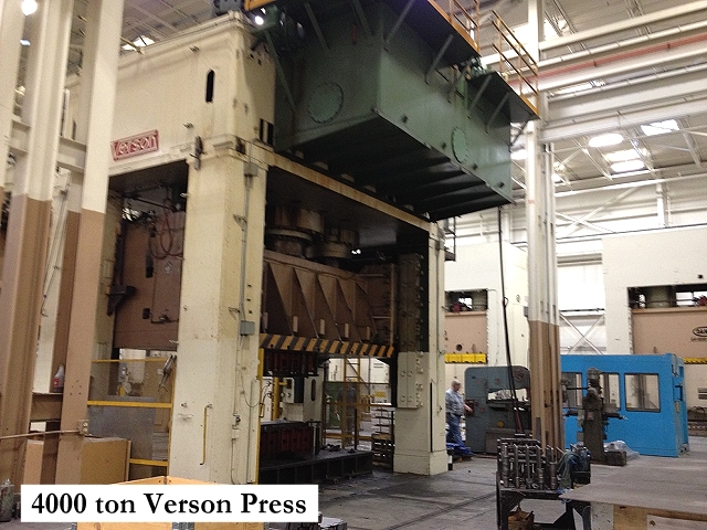 Used Verson 4000 ton hydraulic press Model 4000-HD3-184 for sale at Techmachinery.com