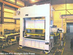PTC 660 tonm straight side progressive feed press