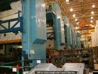Used Danly 800 ton straight side 4 point press line for immediate sale.