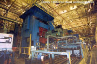 Danly 1000 ton dual action used stamping press