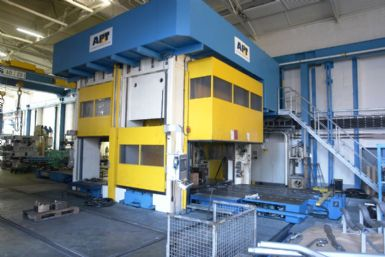 Click for detail specs on this 8000 ton Hydroforming Frame press