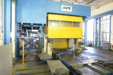 8000 ton APT hydroforming frame press in like new condition.